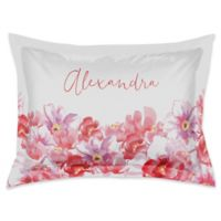 Designs Direct Watercolor Florals Standard Pillow Sham in Pink