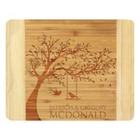 Stamp Out Love Birds Swing 11-Inch x 14-Inch Bamboo Cutting Board