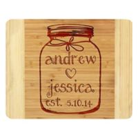 Stamp Out Maison Jar 11-Inch x 14-Inch Bamboo Cutting Board