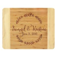 Stamp Out Branch Wreath 11-Inch x 14-Inch Bamboo Cutting Board