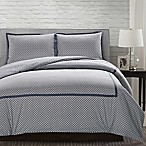 Andrew Reversible King Duvet Cover Set in Grey
