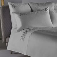 Frette At Home Antico Queen Sheet Set in White/Silver