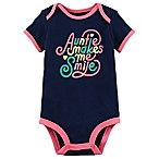 carters® Newborn  Auntie Makes Me Smile  Short Sleeve Bodysuit in Navy