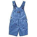 OshKosh B'gosh® Size 9-12M Dinosaur Schiffli Canvas Shortall in Blue