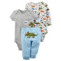 carter's® Preemie 3-Piece Rainbow Heart Shirt, Bodysuit, and Pant Set