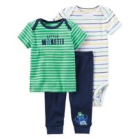 carter's® Preemie 3-Piece Dinosaur Bodysuit and Pant Set