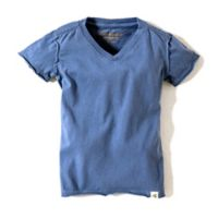 Burt's Bees Baby® Size 3-6M Solid High V-Neck T-Shirt in Blue