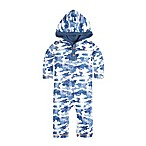 Burt's Bees Baby® Size 3-6M Distressed Camo Hooded Coverall in Blue