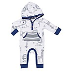 Boppy® Size 9M Jungle Animal Hooded Coverall in White