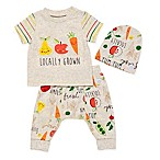 Boppy® Size 3M 3-Piece  Locally Grown  Shirt, Pant and Hat Set in Oatmeal