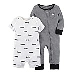 carter's® Newborn 2-Piece Coverall Set in Black/White