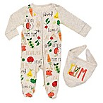 Boppy® Size 3M 2-Piece Locally Grown Footie and Bib Set