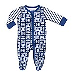Boppy® Newborn Geo Sketch Footie in Navy