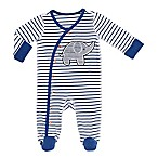Boppy® Size 6M Elephant Snap-Up Footie in Navy