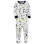 carter's® Size 18M Dino Print Footed Pajama in Green