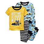 carter's® Size 6M 4-Piece Construction Snug-Fit Pajama Set in Yellow/Blue