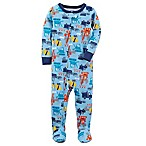 carter's® Size 24M Construction Footed Pajama in Blue