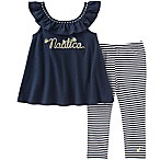 Nautica Kids® Size 3-6M 2-Piece Logo Top and Stretch Stripe Legging Set