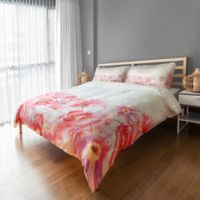 Designs Direct Watercolor Florals Twin Duvet Cover in Pink