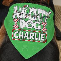 """Naughty Dog"" Dog Bandana"