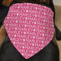 Repeating Name Dog Bandana