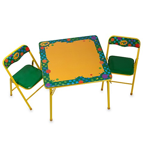 Crayola® Erasable Activity Table and Chair Set - Bed Bath & Beyond