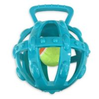 Bounce & Pounce Cage with Tennis Ball Dog Toy in Green