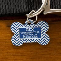 Chevron Bone Pet ID Tag