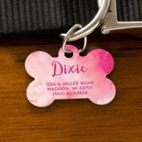 Watercolor Bone Dog Tag