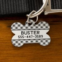 Plaid Bone Dog Tag