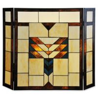 River of Goods Mission Stained Glass Fireplace Screen
