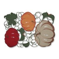 Pillow Perfect Pumpkin Stack Harvest Placemats (Set of 2)