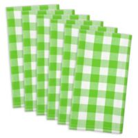 Design Imports Classic Check Napkins in Green Apple (Set of 6)
