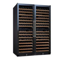 Wine Enthusiast N'Finity Pro Double L Stainless Steel Wine Cooler with Glass Doors