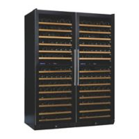 Wine Enthusiast N'Finity Pro Double LX Stainless Steel Wine Cooler with Glass Doors