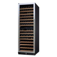 Wine Enthusiast N'Finity Pro Dual-Zone L Stainless Steel Wine Cooler with Glass Door