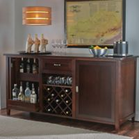 Wine Enthusiast® Firenze Wine And Spirits Credenza in Dark Espresso
