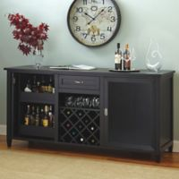 Wine Enthusiast® Firenze Wine And Spirits Credenza in Black