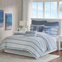 Harbor House Ocean Stripe Twin Duvet Cover Set in Blue/White