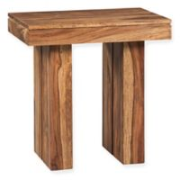Scott Living Rustic Style End Table in Natural