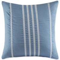 Harbor House Ocean Stripe Embroidered Stripe Square Throw Pillow in Blue