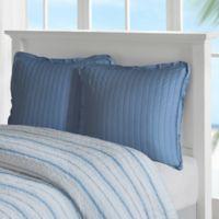 Harbor House Ocean Stripe European Pillow Sham in Blue