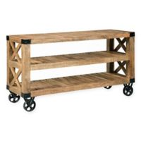 Scott Living Industrial Sofa Table with Wheels