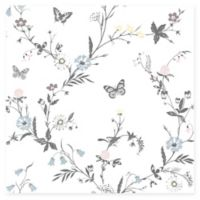 Brewster Home Jamie Botanical Wall Paper in White
