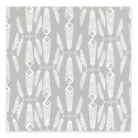 Brewster Home Lainey Feather Wallpaper in Grey
