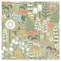 Brewster Home Fashions Wonderland Hoppet Folk Wallpaper in Green