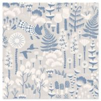 Brewster Home Fashions Wonderland Hoppet Folk Wallpaper in Grey