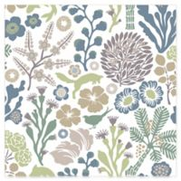 Brewster Home Fashions Wonderland Flytta Fauna Wallpaper in Green