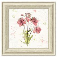 Amanti Art Floral Splash V 19-Inch Square Framed Wall Art