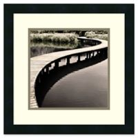 Amanti Art Water Walkway 18-Inch Square Framed Wall Art